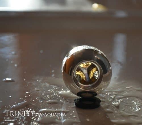 Trinkwasserwirbler Trinity Silber mit Kristallwirbelkammern