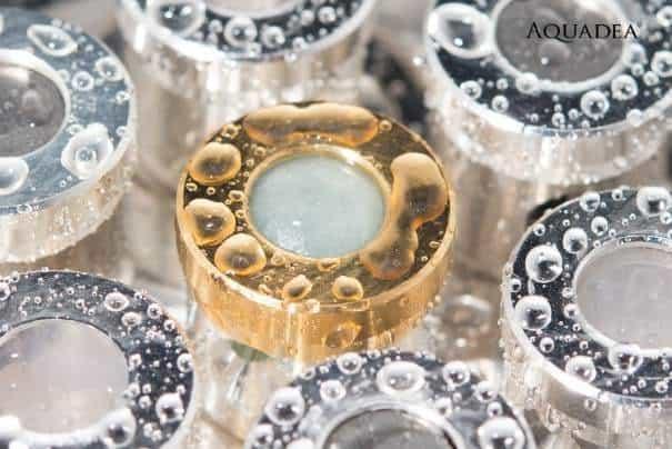 Wirbeldusche Platin Kristallwirbelkammern Detail