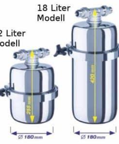 Duschfilter 18 Liter Abmessungen