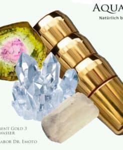 Trinkwasserwirbler - Empowerment Gold Harmony 3 mit Kristallen