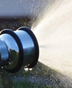 Aquajet Silber - Gartenspritze Sprühbild