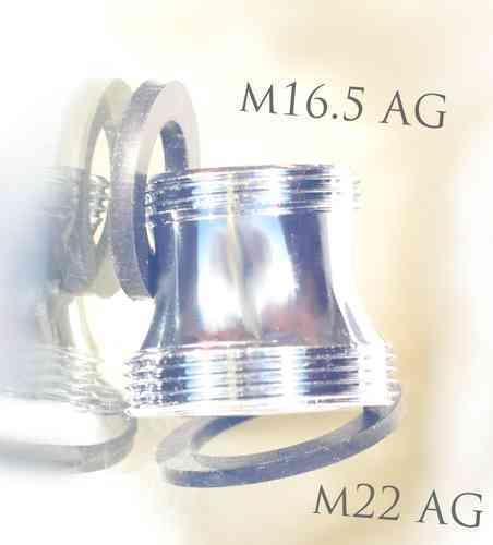 M16,5 AG auf M22 AG Gewindeadapter