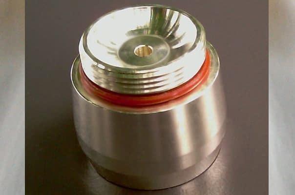 Trinkwasserwirbler Modul Silber Auslass