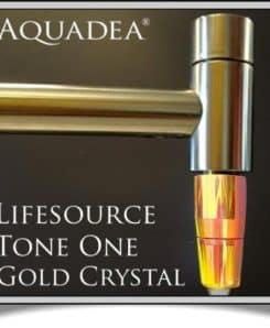 Trinkwasserwirbler ToneOne Gold an Wasserhahn